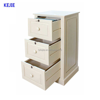 Europe Popular Used Vintage Cream 3 Drawer File Cabinet Office and Home Steel Filing Cabinet Big Drawer Steel Cabinet