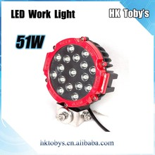 7 inch led car headlight for off road vehicle,supplier of auto parts LED Driving Lamp 51W car work light led 12V