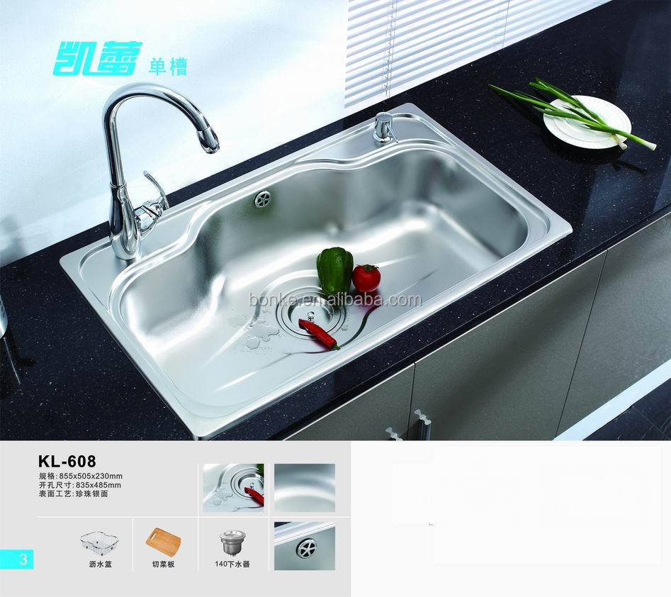 Above Counter Kitchen Sink(basin) Of Kl-610,Stainless Steel Kitchen ...