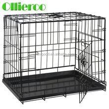 "2015 new arrival wholesale price 48"" Foldable metal double door Dog Kennel"