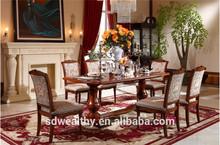 Estilo americano antigo madeira maciça de jantar e cadeira para sala de jantar com lareira gabinete DT9006