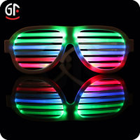 Alibaba Best Popular Product Shenzhen Factory Custom Rechargeable Led Voice Controlled Light Up Glasses