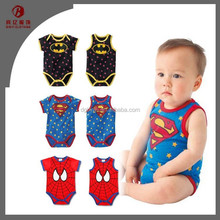 China Supplier Baby Dress Superman Baby Romper