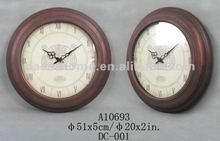 2012Style-Metal Wall Clock with Framed& modelled after an antique