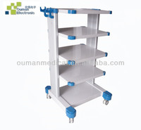 Minimal invasive surgery equipment Four or Five Floor Endoscope trolley with wheels and drawer