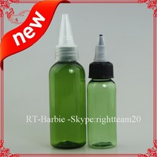 green plastic dropper bottles different colors