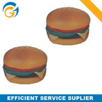 popular samll burger foam sponge pu stress toy