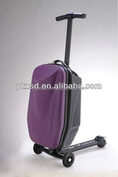 Fashion PC trolley luggage / scooter trolley suitcase