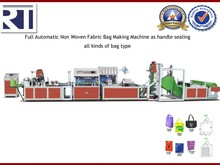 Full Automatic Non Woven Bag Making Machine as handle sealing