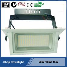 Excellent quality hot sale SAA latest cob led spot light rectangle