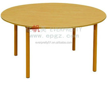 Round Shape Children Furniture Nursery School Wooden Desk for Teacher