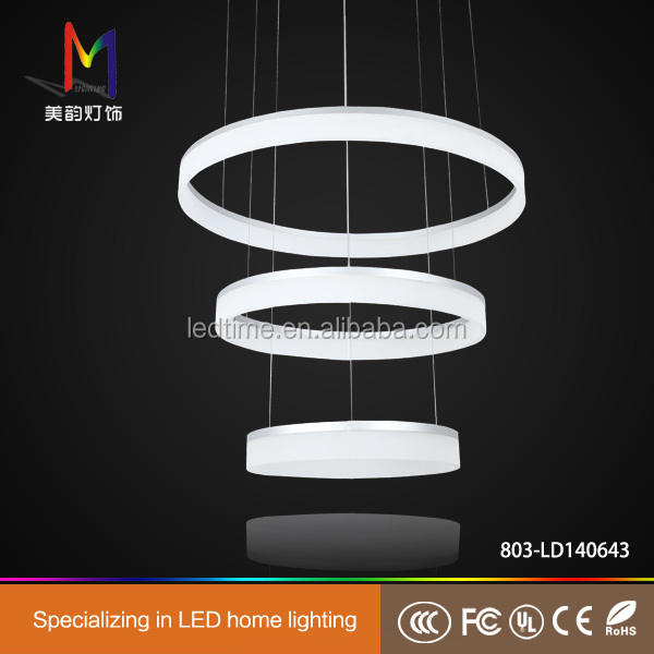 70w led modern acryl pendelleuchte zwei ringe deckenlampe kreative kronleuchter warmwei l ster. Black Bedroom Furniture Sets. Home Design Ideas