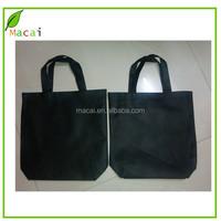 OEM disposable Plain black color nonwoven cloth bag