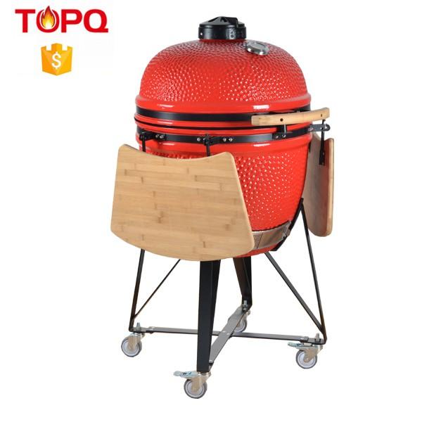 TOPQ Céramique Fumeur de BBQ Kamado Barbecue au Charbon