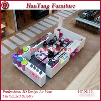 Cheap price high end glass beautiful nail salon furnitures