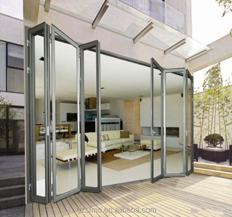 Pas cher en aluminium verre porte pliante manufactuer for Living room y sus partes