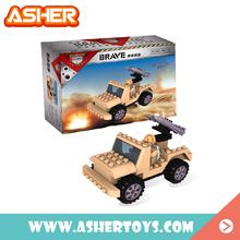 cheap diy missile car mini 3d block building bricks toys abs