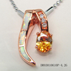 Colors Zircon Charms Silver Pendant 925 Jewelry Finding