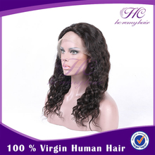 Best Wholesale Websites Chinese Virgin Malaysian Curly Hair Gluless Full Lace Wig