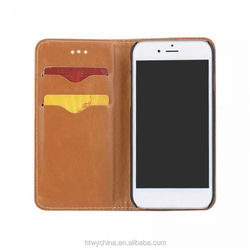 Newest High Quality Solid PC PU Leather Case cover For iPhone 6s ,for iPhone 6s plus wallet/Cards slots Case cover