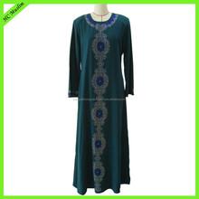 Latest design muslim long sleeve fashion abaya designs 2015 dubai