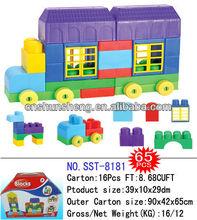 bloque de construcción de la casa de coches tipo ladrillo jugueteseducativos