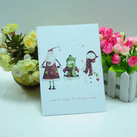 Hot sale 2015 luxury paper christmas cards for Germany,Austra,Switzerland market