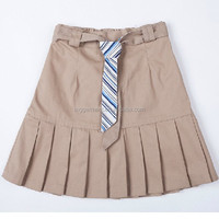 Girl Khaki School uniform Pleated Skirt
