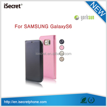New arrival lether phone case for samsung galaxy s6 edge