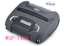Woosim WSP-I450 bluetooth portable handheld ticket printer with 112mm thermal paper