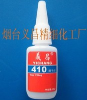 Cyanoacrylate adhesive super glue 410 with good gap filling