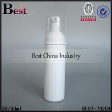 empty plastic clear foam pump bottle wholesale travel size foam pump bottle