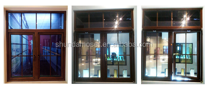 High quality double glazed wood window grill design buy