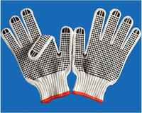 PVC dotted cotton gloves / gloves with dots