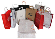 Customized paper gift bag with logo print
