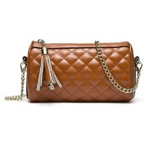 New product wholesale fashion quilt genuine leather chain clutch bag 2015