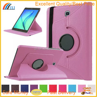 Rotation magic leather case for samsung galaxy tab S2 T715, pull tab pu leather case for Tab S2