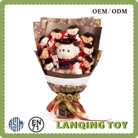 OEM Plush Toy Bouquet Gifts For Graduate Students