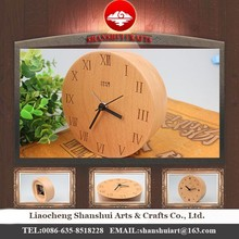 Shanshui DRZ006 Manufacturer's modern wall clock wholesale table with wood material