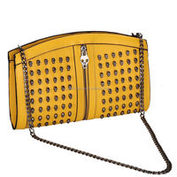 2015 newest products yellowgreen ladies fashion trolley bag with zipper in middle