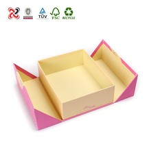 New design Pink paper folding gift box