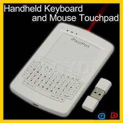 Funny 2.4G Wireless Mini Handheld Keyboard with Mouse Touchpad (with Laser Pointer), Plug and Play