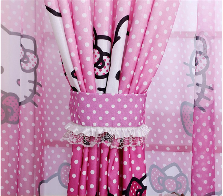 New Sale Curtains Curtains Sheer Home Decoration Curtain Hello Kitty ...