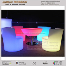 durable moulded illuminated led furniture from China factory