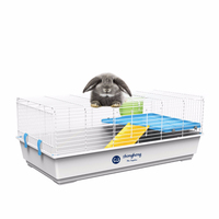 Wholesale Rabbit Cage Indoor Rabbit Cage Rabbit Cage with One Platform One Floor and One Grass Box