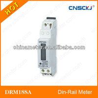 DRM18SA Din-rail mounted digital kwh meter