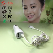 car charger with cable and usb 5V 1A output for iphone 5 6s with CE FCC KC INMETRO GS