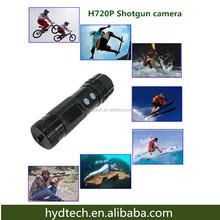 HD 720P action shot camera mounted on gun hact20