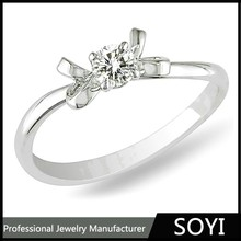 Wholesale silver ring high quality hand made engagement ring