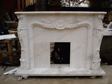 Meilin Carving ZTB-01 Marble Fireplace Mantel